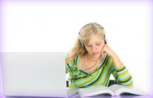 girlstudying music