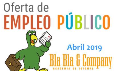 Oferta Pública de Empleo (Abril 2019)