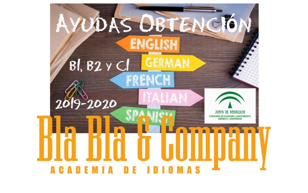 Ayudas B1, B2 y C1 Junta de Andalucía