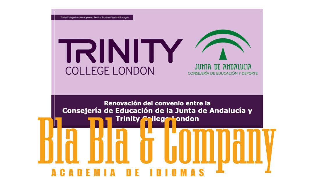 Renovación convenio Junta de Andalucía y Trinity College London