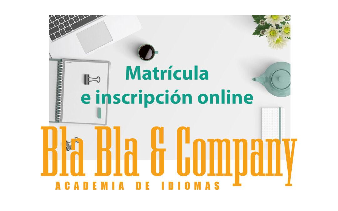 Matrícula y pago online Curso Inglés Bla Bla Company: