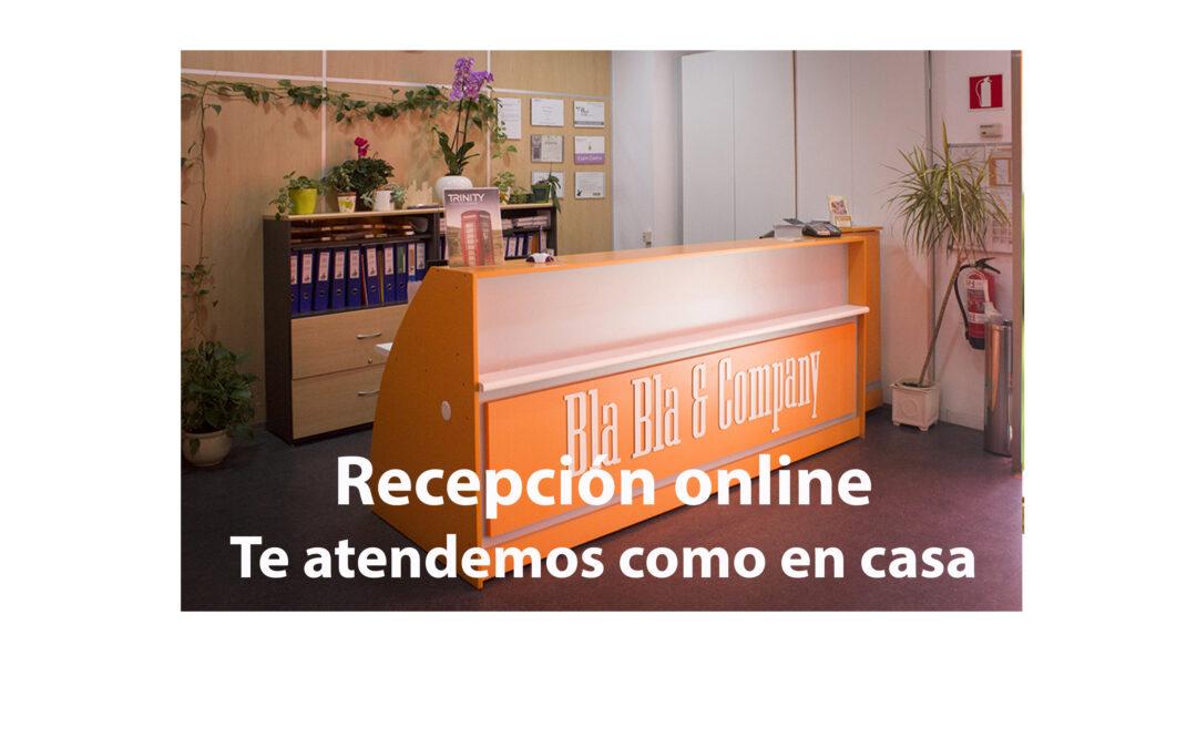 Recepción Online de Bla Bla Company Virtual
