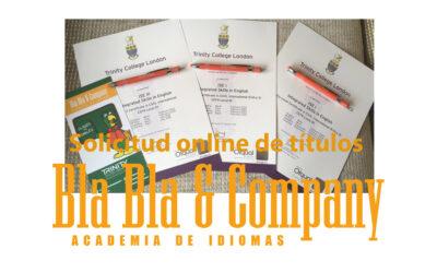 Solicitud online de Títulos y Certificados