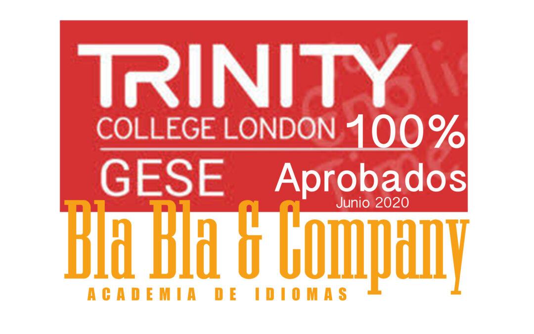 100% Aprobados GESE TRINITY Junio 2020