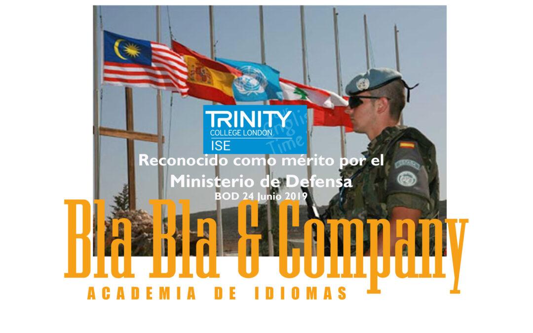 TRINITY reconocido como mérito por Ministerio Defensa