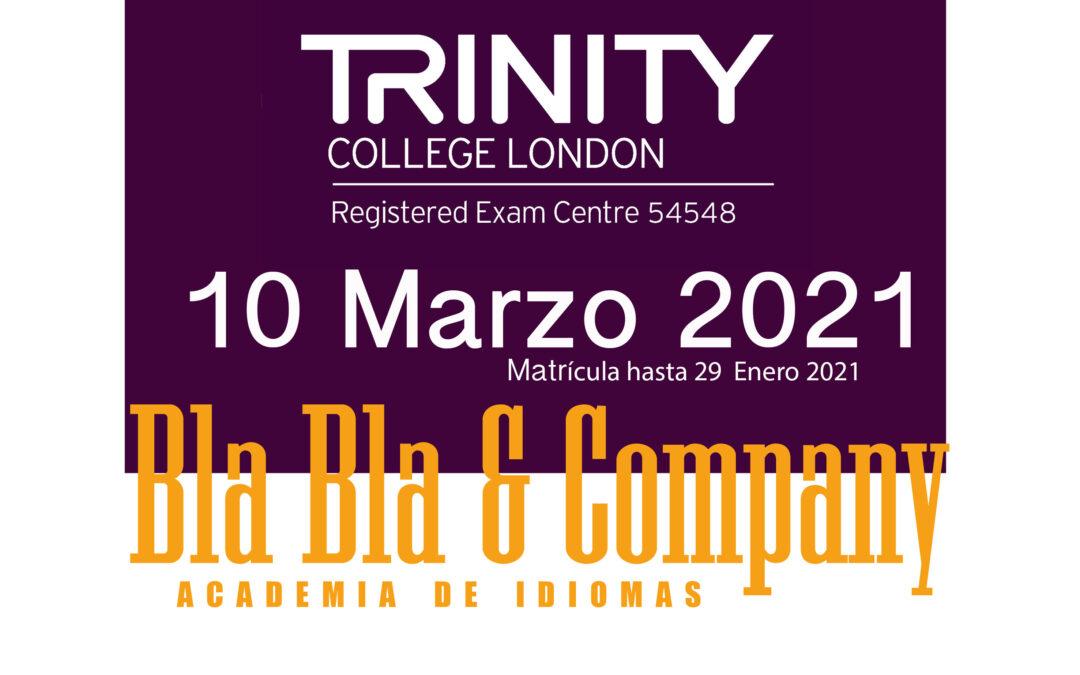 Examen Trinity 10 Marzo 2021