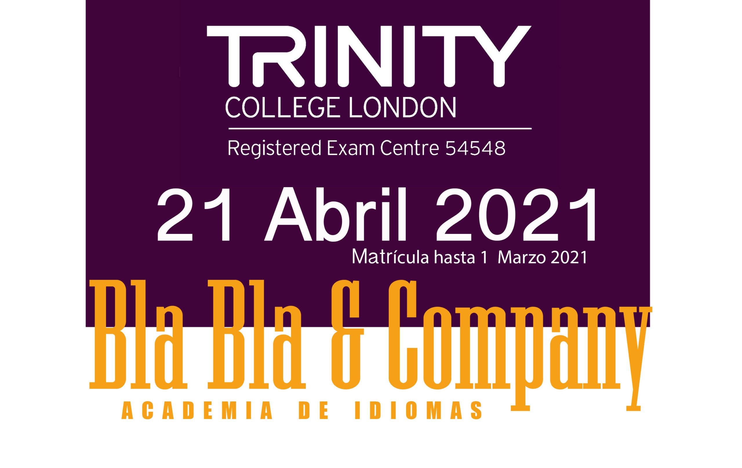 Examen Trinity Diciembre 2020