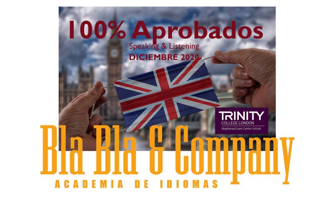 """100% Aprobados Trinity """"Speaking & Listening"""" Diciembre 2020"""
