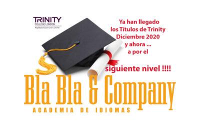 Títulos Trinity Diciembre 2020