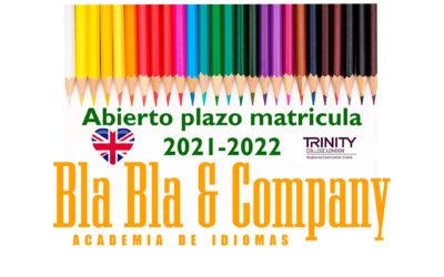 Matrícula Abierta: Curso 2021-2022