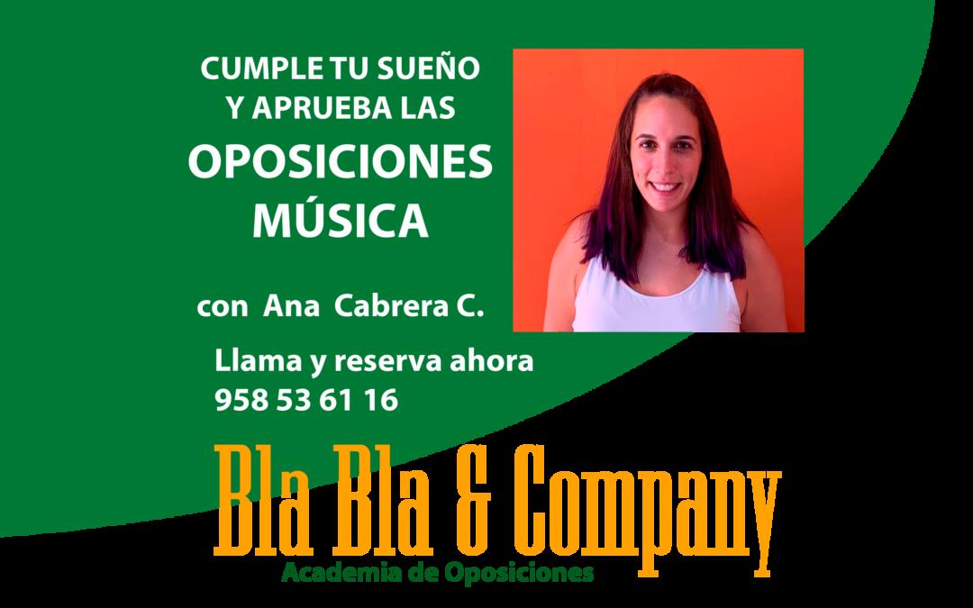 Oposiciones Música Primaria: Preparadora Ana Cabrera.