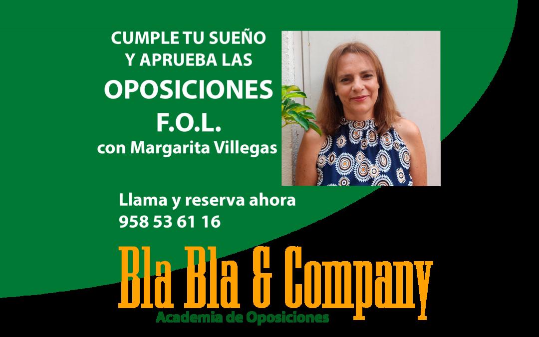Oposiciones Secundaria F.O.L. : Preparadora Margarita Villegas Sánchez