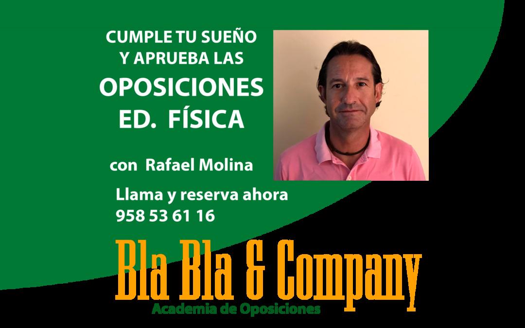 Oposiciones Educación Física: Preparador Rafael Molina